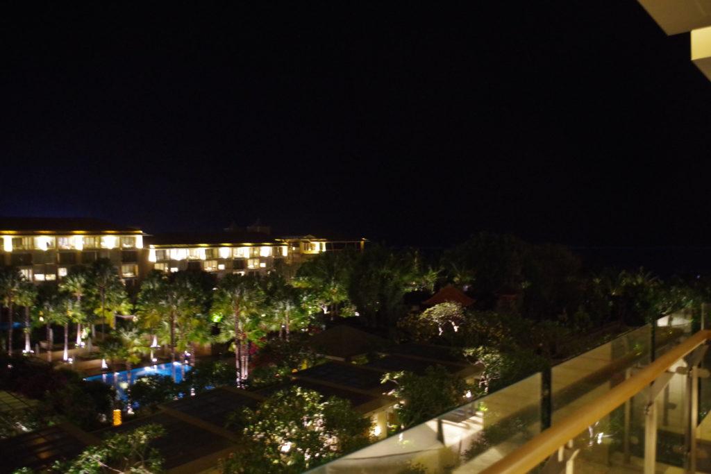 ムリアリゾートバリの夜景