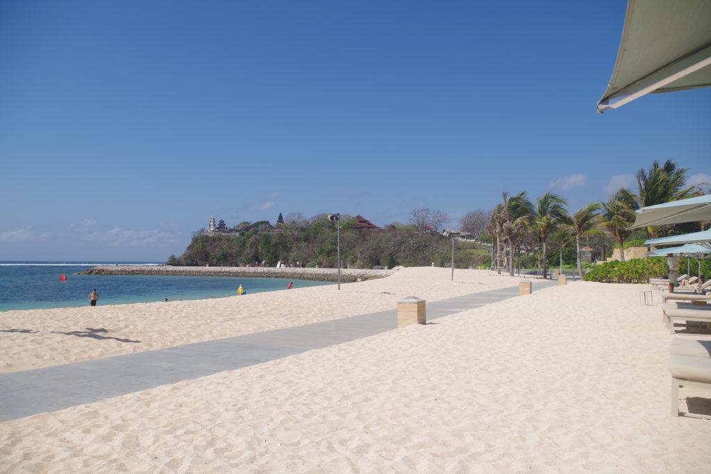 ムリアリゾートバリのプライベートビーチ