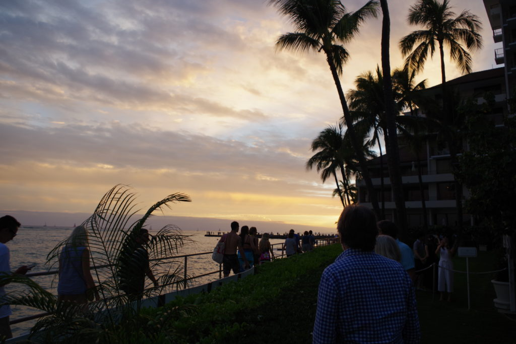 ハワイのワイキキビーチ、ハレクラニ