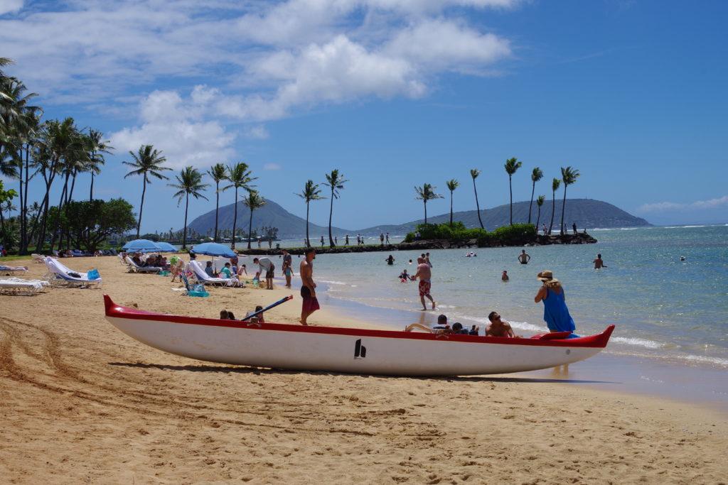 ハワイのカハラホテルビーチ