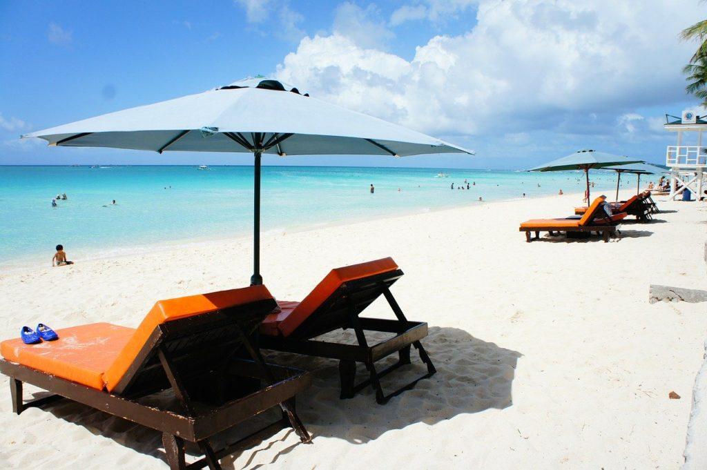 ボラカイ島のビーチ雰囲気