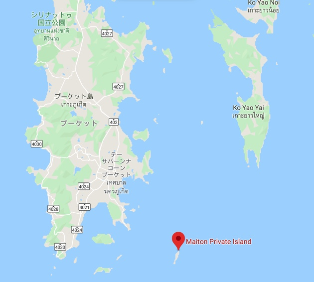マイトン島の場所