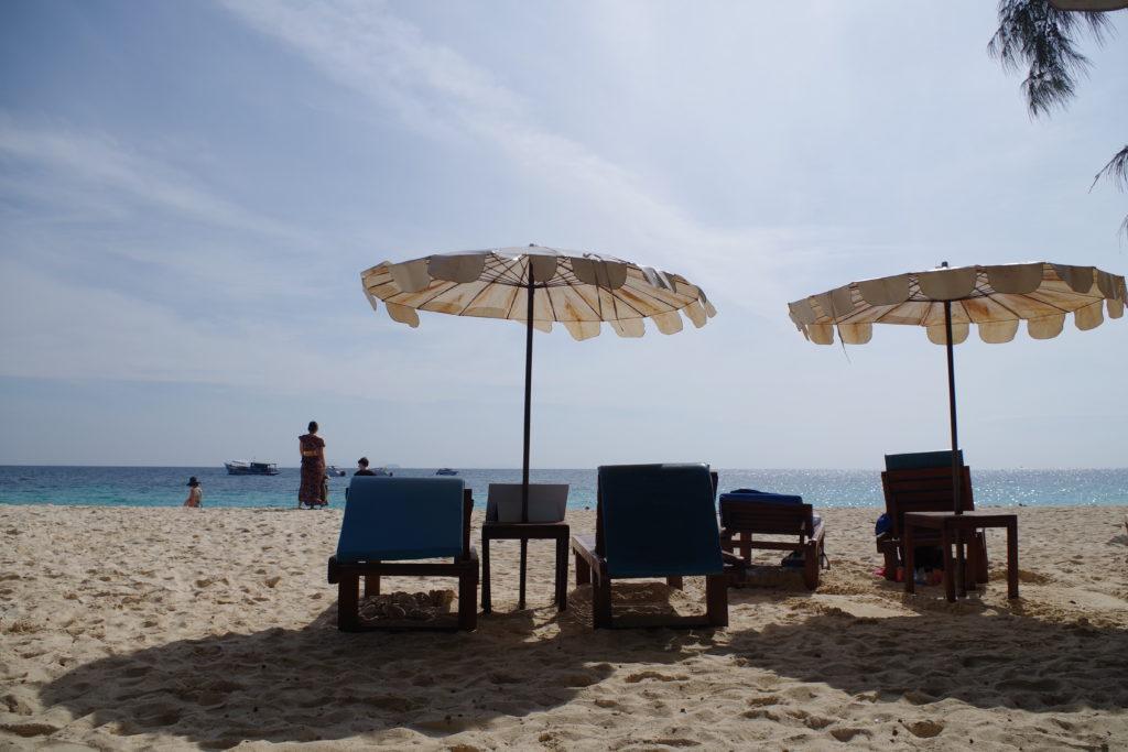 マイトン島の砂浜