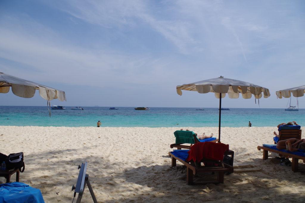 マイトン島のビーチ