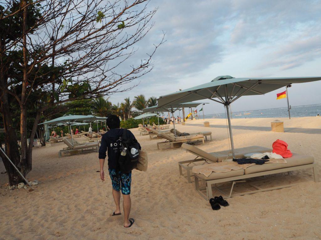 ムリアリゾートのビーチ
