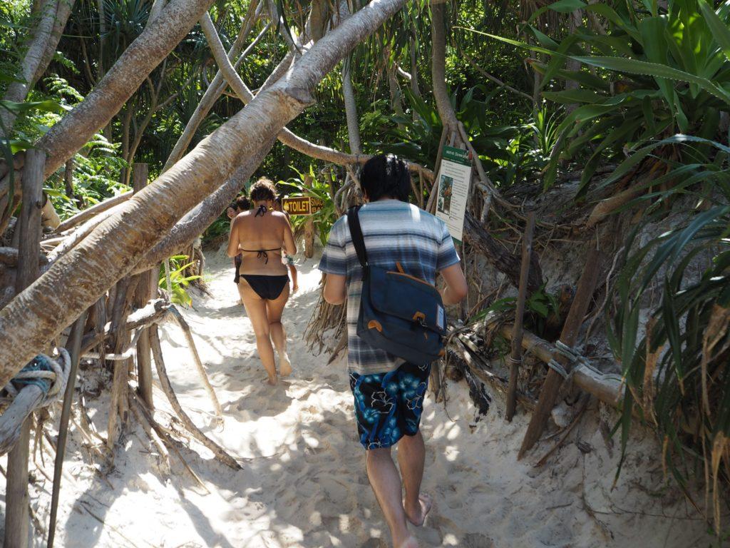 マヤベイの森林散策