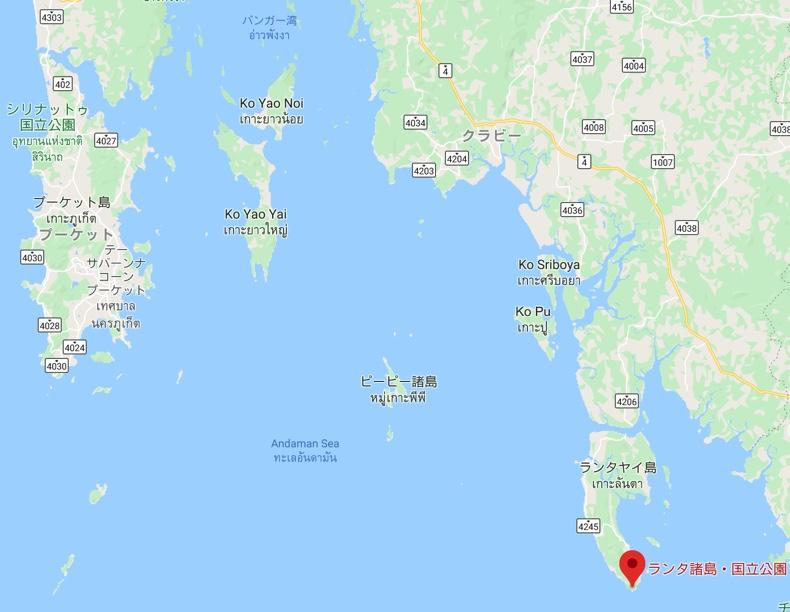 ランタ諸島の場所